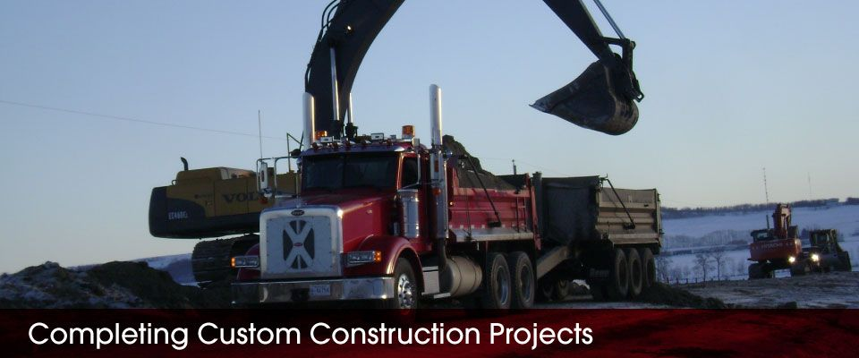Completing Custom Construction Projects | earthmoving equipment