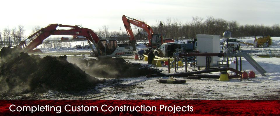 Completing Custom Construction Projects | working in snow