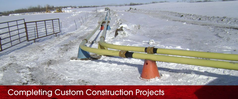 Completing Custom Construction Projects | pipeline in snow