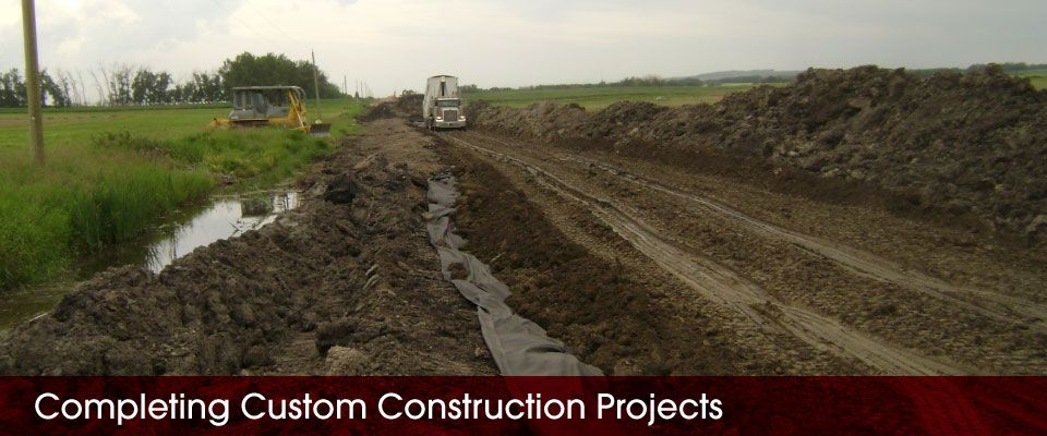 Completing Custom Construction Projects | digging trenches